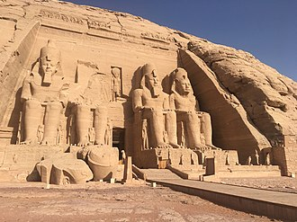 Rock-cut architecture - The Great Temple of Abu Simbel (ca. 1280 BCE), one of the earliest examples of rock-cut architecture.