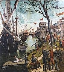 Arrivo dei pellegrini a Colonia