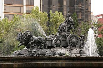 Spaniards in Mexico - Fuente de Cibeles, Mexico City.