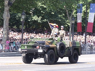 Staff car - French Army ACMAT VLRA seen for the Bastille Day 2013 military parade.