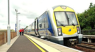 Adelaide railway station (Northern Ireland) - NIR Class 3000 train at Adelaide in 2009