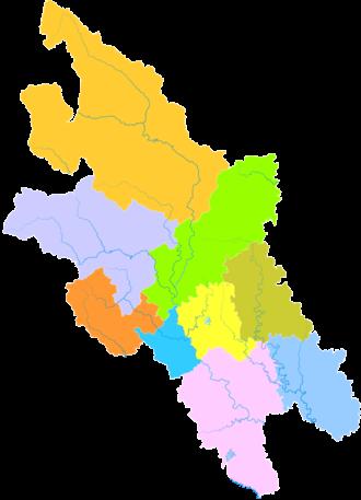 Mianyang - Image: Administrative Division Mianyang
