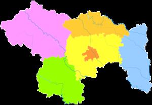 Xuchang - Image: Administrative Division Xuchang