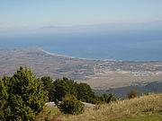 Вид на Эгейское море с горы Олимп.