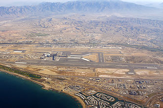 Muscat International Airport - Image: Aerial view of Muscat Airport