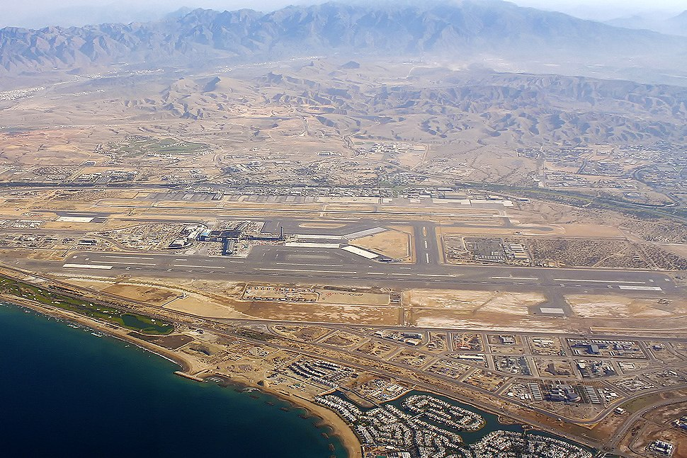 Aerial view of Muscat Airport