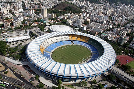 Estadio do Maracana, the location of the first Club World Cup final in 2000 in Rio de Janeiro, Brazil. Aerial view of the Maracana Stadium.jpg
