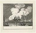 Afbranden van het oorlogsschip Kenmerland, 1778, RP-P-OB-85.008.jpg