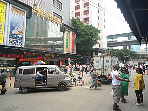 Africans in Guangzhou - The southern end of Baohan Straight Street, the heart of the African area, Dengfeng Subdistrict, Yuexiu District, Guangzhou, Guangdong, China