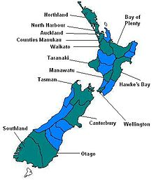 New Zealand Provinces Map.Rugby Union In New Zealand Wikipedia