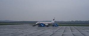 Air Koryo - Image: Air Koryo Tu 204 and new bus