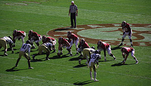 2012 NCAA Division I FBS football season - Image: Alabama Crimson Tide football on offense against Western Carolina