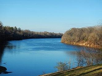Benton, Alabama - The Alabama River as seen from Benton Park in Benton