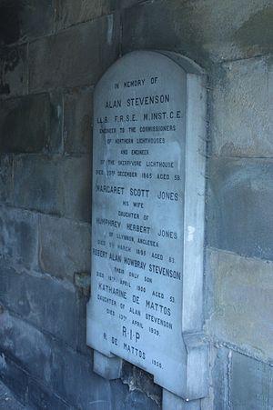 Alan Stevenson - Alan Stevenson's grave, New Calton Cemetery