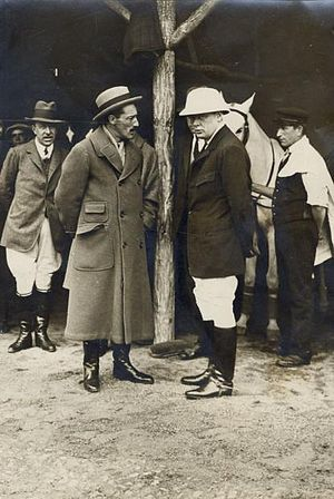 Jacobo Fitz-James Stuart, 17th Duke of Alba - Alba and Winston Churchill at a polo match in Madrid.