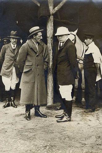 Jacobo Fitz-James Stuart, 17th Duke of Alba - Alba and Winston Churchill at a polo match in Madrid.