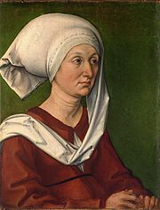 Porträt der Barbara Dürer, geb.Holper, (1490/93),Germanisches Nationalmuseum,Nürnberg[1] (Quelle: Wikimedia)