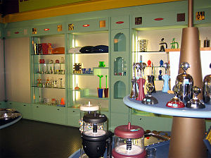 Alessi (Italian company) - Interior of an Alessi store in Omegna, Italy