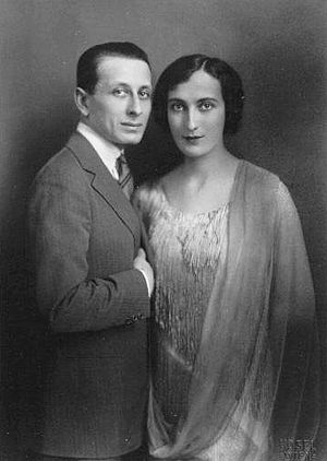 Alexandre Tansman - Alexandre Tansman with his first wife Anna Eleonora Brociner