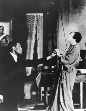 All God's Chillun Got Wings (play) - Scene in O'Neill's All God's Chillun' Got Wings in which Paul Robeson kissed Mary Blair's hand and created a national uproar.