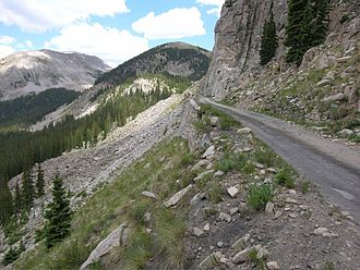 Denver, South Park and Pacific Railroad - Approach to the Alpine tunnel