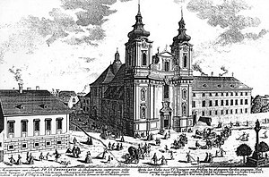 Mass No. 6 (Schubert) - The Church of the Holy Trinity in Alsergrund, c. 1724, where the mass received its first performance in 1829