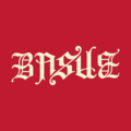 Ambigram Basile, blackletter, white logo with red background.png
