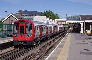 London Underground S7 and S8 Stock - A Metropolitan line S8 Stock train at Amersham