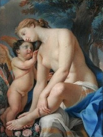 Francesco Pavona - Cupid comforts the wounded Venus by Francesco Pavona