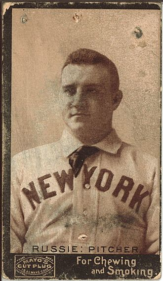 Amos Rusie - An 1890s tobacco card of Amos Rusie