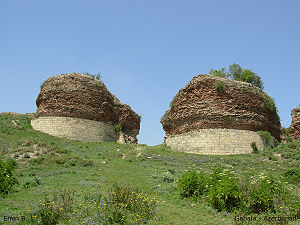 Qabala - The ruins of the gates of Albanian capital Gabala in Azerbaijan