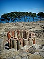 Ancient Water filtration pipes in the city of Neapolis in the archaeological site of Empúries.jpg