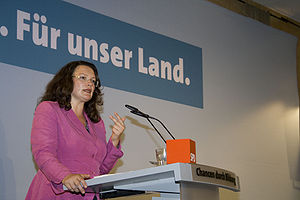 Federal Ministry of Labour and Social Affairs - Former Minister Andrea Nahles (from 2013 to 2017)