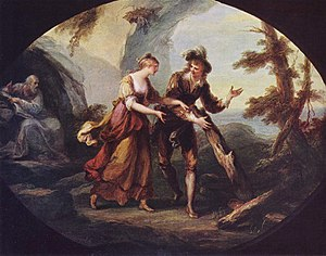 Miranda and Ferdinand, Angelica Kauffmann, 1782