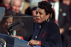 "On the Pulse of Morning - Angelou reciting ""On the Pulse of Morning"" at the first inauguration of Bill Clinton in 1993"