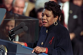 "Maya Angelou - Angelou reciting her poem ""On the Pulse of Morning"" at President Bill Clinton's inauguration, January 1993"