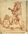 Anoniem, Ontwerp voor de gouden leeuw van de Oostendse Compagnie - Ébauche d'un lion d'or de la Compagnie ostendaise, KBS-FRB.jpg