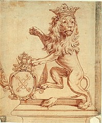 Design for the golden lion of the Company of Ostend