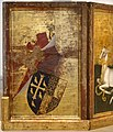 Anonimo inglese o francese, dittico wilton, 1395-99 ca. 07 retro, stemma.jpg