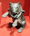 Antica roma, ampolla a forma di orso ammaestrato che balla, II secolo dc.jpg