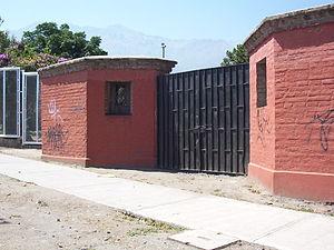 Villa Grimaldi - Old gate entrance to Villa Grimaldi