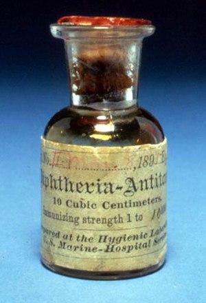 Antitoxin - Image: Antitoxin diphtheria