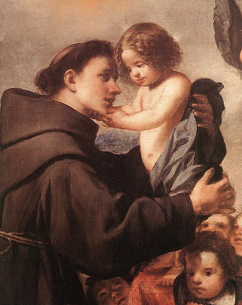 Archivo:Antonio de Pereda y Salgado - St Anthony of Padua with Christ Child (detail) - WGA17168.jpg