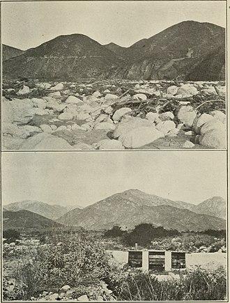 Spreading ground - A spreading ground in California, circa 1917
