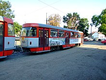 Arad, ulice Muclus Scaevola, tramvaj T4D II.jpg