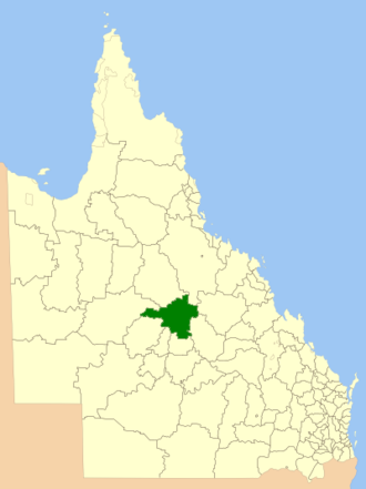 Shire of Aramac - Location within Queensland