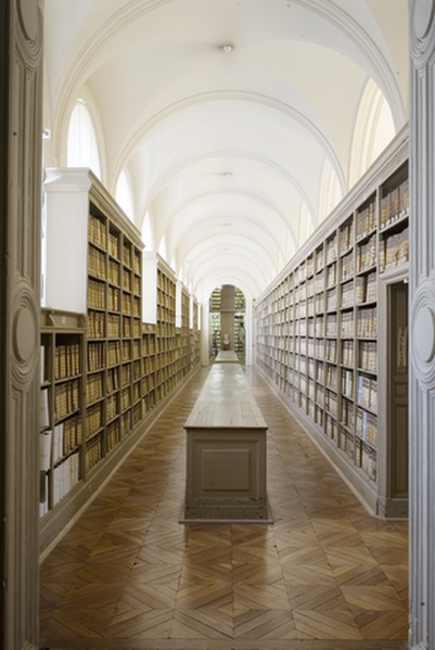 Archives nationales (site de Paris), les Grands Dépôts, où sont conservées les archives du Parlement de Paris. Photo Archives nationales/Atelier de photographie (Paris) - CC-By -SA