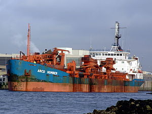 Arco Humber IMO 7204318 at IJmuiden, Port of Amsterdam, Holland.JPG
