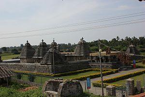 Lakshmi Devi Temple, Doddagaddavalli - Image: Ariel view of Lakshmi Devi temple at Doddagaddavalli