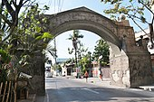 Stone arch in barangay Arkong Bato built by the Americans in 1910, which serves as the boundary marker to the old town of Polo.